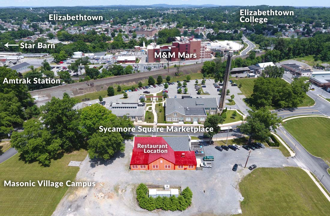 Sycamore Square Marketplace Aerial View